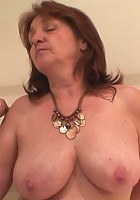 She's there in a towel and he doesn't have the power to resist the busty mature babe