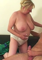 His mother in law is awfully friendly and eventually takes his cock into her steamy pussy