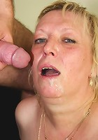 After getting naked with the mature blonde he gets to bone her endlessly and cum hard