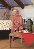 Her sensual and sexy mature snatch is pumped full of his cock and she is beautiful