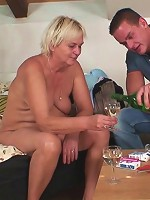 She keeps her pussy trimmed but it is a little bushy and his cock makes it feel great