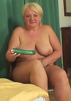 The chubby blonde mature slut is horny for the body and cock of her son in law