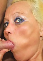 The scorching old broad is horny and he is nailing her pussy with his hot young cock