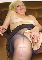 Her tasty son in law takes some naughty pictures and then fucks the old babe hard