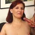 Mother in law wants some of that young cock so he gets naked and feeds it into her holes