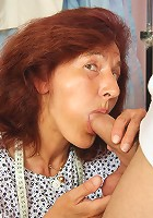 Granny prefers to be bent over and fucked hard in her wet pussy by a strong young man