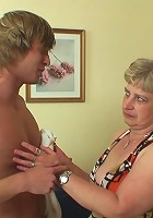 Chubby granny and the young man work get to have some tasty hardcore fun together