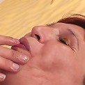 He brings her home and slips his cock into her moist granny pussy to fuck her long and hard