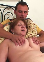 An ancient babe wants cock in her old pussy and he gives the mature hottie a banging