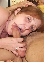 His naughty granny whore wants cock and he gives her a fucking for the ages to make her cum