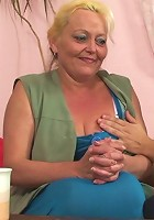 After the oral and some missionary fucking this beautiful granny bends over for sex from behind