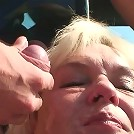 Old babe fucked hard in her pussy by the young man on the side of the country road