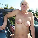 Granny and her old box are getting filled outdoors as she goes for a lusty fantastic ride on him