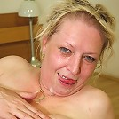 He pounds her fat old pussy and he cums on her old face to give her a sticky covering