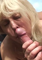 He can barely contain his desire for the naughty old slut and must fuck her hard and fast