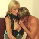 He chooses the old whore over the young one and he fucks her with his manly meat
