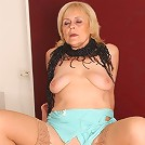 This literal granny whore gets picked up on the streets and fucked by a younger man