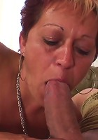Hot granny with a great body goes to work with two guys lusting after her body