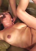 They have a few drinks and then have an interracial mature threesome with their slut