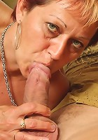 The two young men with the big cocks double team a mature slut and she loves it
