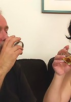 Husband brings home a young man for his mature wife to have fun with on her b-day