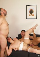 Mature threesome where the wife gets a hot young man for her special birthday