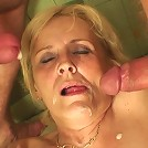 Granny made a bad bet and now she gets fucked in her sexy pussy to pay it off