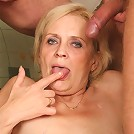 Sensual young men with a granny babe have a beautiful hardcore threesome for you