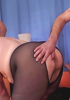 The guys with the hard dicks double team the mature babe and fuck her real good