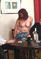 She gives up her pussy in the poker match and the guys end up fucking her there on the table