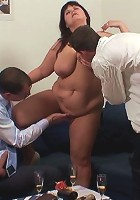 She craves a hard dick in her mature holes and they make the old slut feel so good
