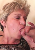 Naughty granny craves cock meat and gets a big fat slab of dick inside her body