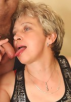 Cock craving granny babe calls a young man and fucks him and her hot hubby