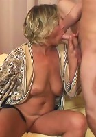 Granny is a slut craving dick meat and they feed her every inch of their rock hard tools