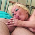 The mature teacher wants their cum and they give her two blasts of semen on her face