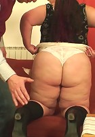 The sex with the fat mature features some good anal fucking and tons of sucking