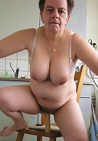 Mom with big lips and bigger tits gets fucked hard!