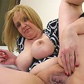 Horny old slut sucking cock and getting fucked too