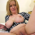 Old horny chick getting banged hard by a young guy