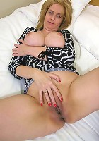 Busty blonde mom loves to suck cock and screams as she gets fucked doggystyle..what a slut!