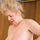 Fat older whore getting fucked hard by a young guy