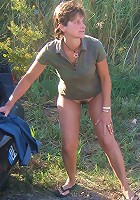 mature women exposing panties in public
