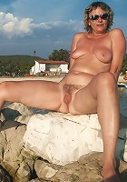 mature tits outdoors