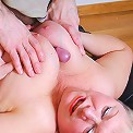 Fat mature gets her jugs and bottom groped and her muff drilled by a boy