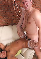 Busty mom Dominga going for pile driver fuck