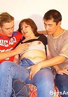 Juicy mom banged by boys