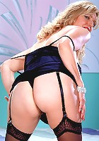 Curvy older housewife strips and spreads