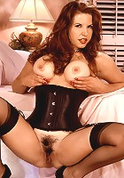 Huge boobed mature wife playing with a toy