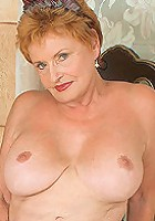Busty milf in sexy red lingerie gets boned