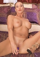HOT MILF filled with dildos in every orifice